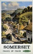 Somerset, Travel by Train.  British Railways (Western Region) Travel Poster